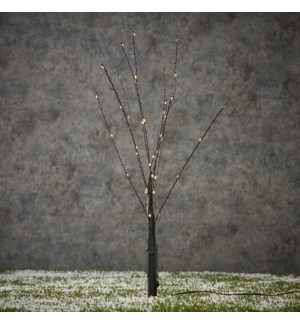 Tree black warm white 40led - 22""