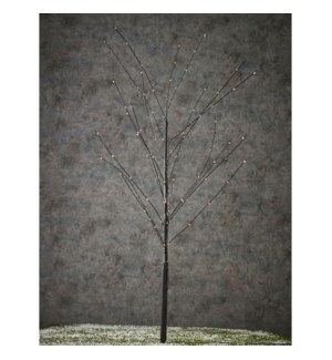 Tree black warm white 100led - 43.5""