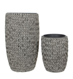 Grimes vase grey set of 2 - 17.25x29.25""