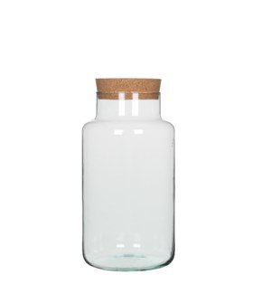 "Chela storagepot transparent - 7.5x14.25"""