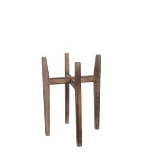 """Ascot plant stand wood l. brown - 17x17x23.75"""""""