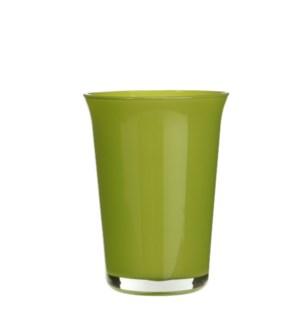 """Troj vase orchid glass l. green - 5.5x7.5"""""""