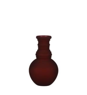 "Granada vase glass d. pink - 5.5x9.5"""