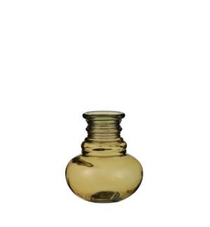 """Granada vase glass ochre - 5.5x6.25"""""""