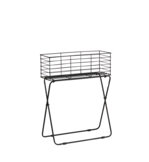 Fence plant Stand black - 21.25x7.5x26.75""
