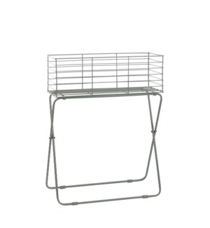 """Fence plant stand l. green - 21.25x7.5x26.75"""""""