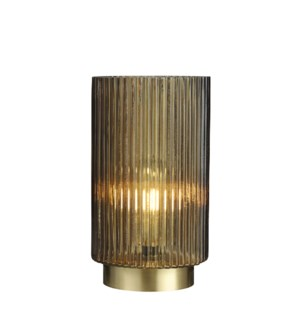 Dilano table lamp gold battery operated - 6x9.75""