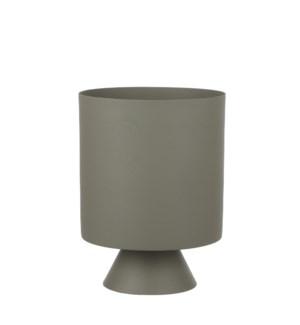 "Bora pot round l. green - 7x9.25"""