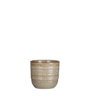 """Ivar pot round cream - 4.75x4.25"""""""