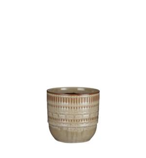 """Ivar pot round cream - 5.25x5"""""""