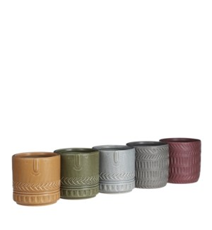 """Maggie orchid pot round 5 assorted PDQ - 5.5x5.5"""""""