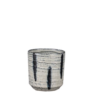 Raymond pot round off white - 4.5x5""