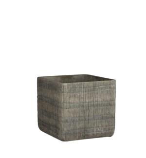 "Kyoto pot square grey - 6.75x6.75x6.25"""