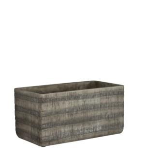 "Kyoto pot rectangle grey - 11.25x5.5x5.5"""