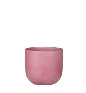 """Nora pot round l. pink - 6.75x6.25"""""""