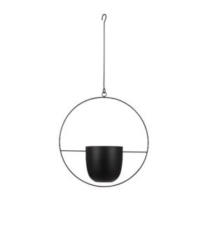 "Dexter pot hanging black - 13.5x5.5x25.5"""