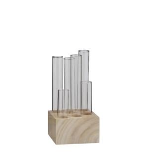 "Louise single flower vase glass - 4x4x8"""