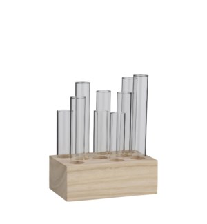 "Louise single flower vase glass - 6.25x4x8"""