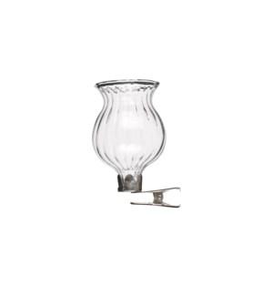 """Clip vase glass - 1.5x2.25"""""""