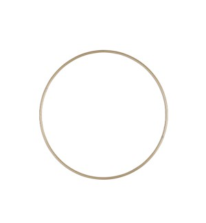 Decoration hanger circle gold - 8x0.25""