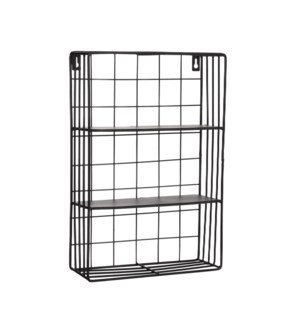 Nila wallrack black - 10.25x4x15.25""