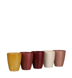 """Tusca orchid pot round 5 assorted display - 4x5"""""""