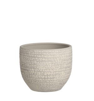 Carrie pot round l. grey - 5.5x4.75""