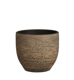 """Carrie pot round brown - 8x7"""""""