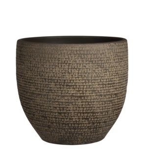 """Carrie pot round brown - 11.5x10.25"""""""