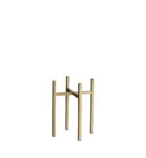 """Ascot plant stand gold - 6.5x6.5x9.75"""""""