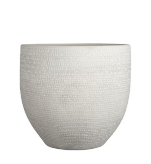 Carrie pot round l. grey - 15.25x14.25""