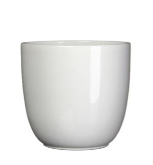 """Tusca pot round white - 12.25x11.25"""""""