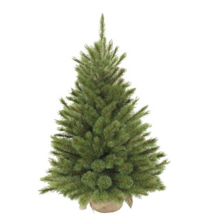 """Forest frosted xmas tree w burlap green TIPS 64 - 17.75x24"""""""
