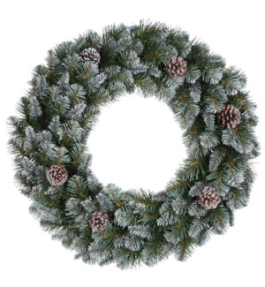 """Empress wreath green frosted TIPS 320 - 35.5"""""""