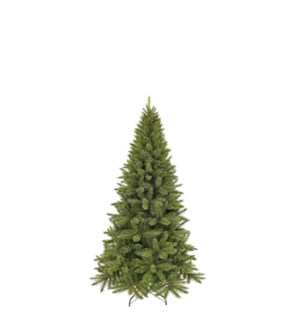 """Forest frosted xmas tree slim green TIPS 424 - 34""""x5'"""