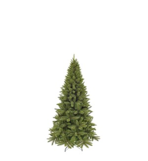 """Forest frosted pine xmas tree slim green TIPS 274 - 27.25""""x4'"""
