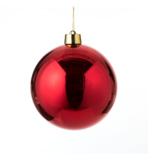 Bauble unbreakable red - 9.75""