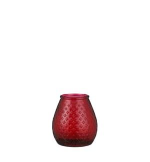 """Hurricane light glass d. red - 7x7.5"""""""