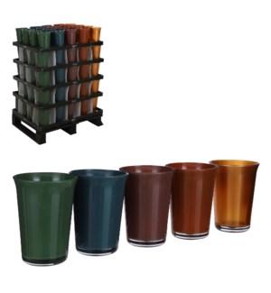 """Troj pot glass 5 assorted PDQ - 5.5x7.5"""""""