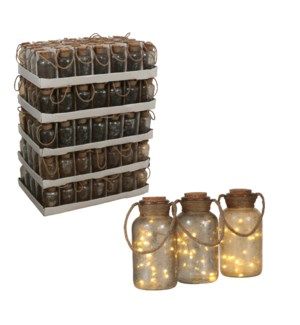 Bottle 3 assorted 20 led battery operated PDQ 175 pieces - 4x8.25""