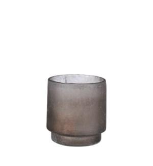 """Tealight holder d. grey - 4.75x4.75"""""""