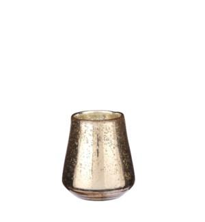 """Tealight holder gold - 4.25x4.25"""""""