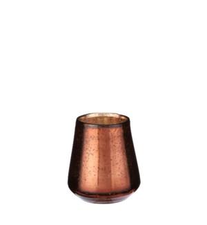 "Tealight holder copper - 4.25x4.25"""