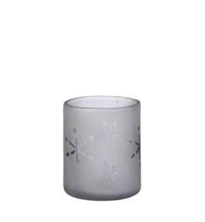 """Tealight holder white - 4.25x4"""""""