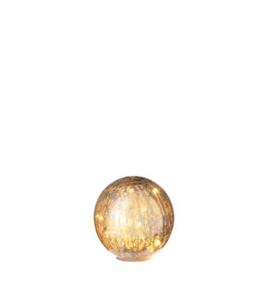 Decoball gold 20 led battery operated - 6""