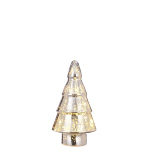 Tree silver 20 led battery operated - 6.75x11.75""