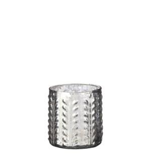 "Tealight holder silver - 4x4"""