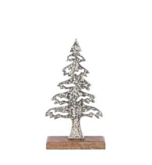 "Decoration tree silver - 7.5x2.75x14.25"""