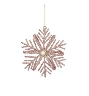 "Ornament snowflake gold - 3x0.5x3.25"""