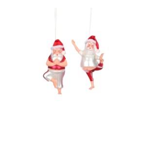 "Ornament santa red 2 assorted - 1.5x0.75x2.25"""
